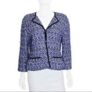 St. John Couture Blue Multi Color Tweed Blazer